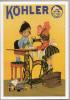 Reproduction Affiche Publicitaire  - KÖHLER  - Machine à Coudre - Reclame