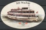 Schiff   -  MS   Wachau      Aufkleber - Schiffahrt