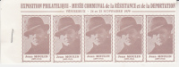 CARNET DE 20 VIGNETTES - JEAN-MOULIN - MUSEE DE LA RESISTANCE VENISSIEUX 1979 - Blocs & Carnets