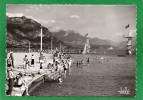 74  ANNECY- La Plage Municipale Animée Le Tobogan  Le Plongeoir CPSM  Grd Format Année 1960 Ed Télé- - Annecy