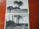 LOTE DE 2 FOTOGRAFIAS DE LA LAGUNA ADELA AÑO 1962 REPUBLICA ARGENTINA - Places