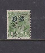 Australia 1913-36 King George V, Overprinted OS, 1d Green Used O129