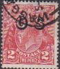 Australia 1913-36 King George V, Overprinted OS, 2d Red Used O130