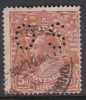 Australia 1914-24 Single Watermark King George V, Perforated Small OS, 5d Brown O42