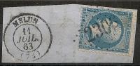 GC 2306 MELUN Seine  Et Marne Sur Napoléon III Dentelé. - 1849-1876: Classic Period