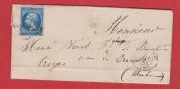 Lettre //  Du Puy En Velay   //  Pour Troyes  //  3 Septembre 1861 - Postmark Collection (Covers)