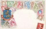 CARTE GAUFREE : NEDERLAND MAINTIEN LANGAGE DES TIMBRES FANTAISIE TIMBRE STAMP NEDERLAND 1900 - Postzegels (afbeeldingen)