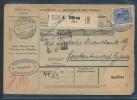 Germania Paketkarte  Nach Constantinopel  Perfin  (bc 9390 ) Siehe Scan ! - Germania