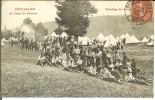 CPA PONTARLIER Au Camp Des Pareuses, épluchage Des Patates 12088 - Pontarlier