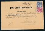 Krone/Adler-Zustellurkunde  -Briefstück  ( Bc9412  )  Siehe Scan  ! - Deutschland