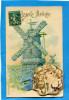 ALMANACH 1908+en Dépliant Sur Carte  De Voeux - Calendars