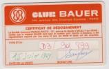 Carte  CLIB  BAUER  Paris  1969  (  Signature  Sanglier ) - Frankreich