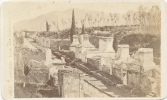 CDV POMPEI, Le Rue Des Tombes (Tombs), # 165, By Anonymous Photographer, Circa 1870  - Ancienne - Antiche (ante 1900)