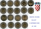 CROATIA 25 Kuna 1997 - 2010 -  FULL SET - All DIFFERENT TYPE  -   UNC - Croatia