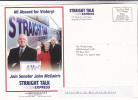 2000 USA Permit Paid Stamps COVER (card) Illus JOHN McCAIN PRESIDENT CAMPAIGN ADVERT - United States
