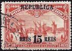 Portugal 1911 - Vasco De Gama Sailboats, Surcharge REPUBLICA ( Mi 183 - YT 185 ) - 1910-... République