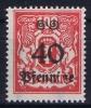 DANZIG: Mi Nr 186  I  MH/*, Mit Falz, Avec  Charnière  Ge Von Pfennige Verstummelt