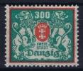 DANZIG: Mi Nr 130 F  MNH/**/postfrisch Ohne Rosettenunterdruck - Danzig
