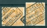 """BELGIE - OBP Nr TR 106 - Cachet  """"NORD-BELGE - LIÈGE-GUILLEMINS"""" - 2 Verschillende Stempels - ( Ref. AD-461) - 1915-1921"""