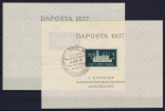 DANZIG: Mi Nr Block 1 A + B  Gestempelt/used DAPAOSTA 1937