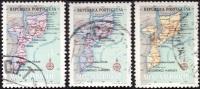 MOZAMBIQUE 1954 -  YT 442 - 444 - 445 - Carte - oblit�r�s