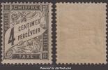 4c Duval Neuf  * TB (Y&T N° 13 , Cote: 120€) - 1859-1955 Mint/hinged