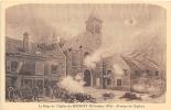 SEINE SAINT DENIS  93  LE BOURGET  LE SIEGE DE L'EGLISE  FRESQUE  GUERRE 1870 71 - Le Bourget
