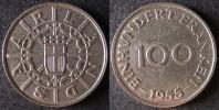 SARRE 100 Franken Ou Franc Sarrois 1954   SARRELAND Protectorat / Zone D'occupation Française En Allemagne   Port Offert - Sarre (1954-1955)