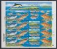 South Korea KPCC1875-8 Nature, Wildlife Of Marado Island, Fish, Opaleye, Epinephelus Septemfasciatus, Full Sheet - Corée Du Sud
