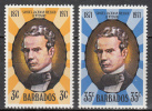 Barbados   Scott No 362-63     Mnh     Year  1971 - Barbados (1966-...)