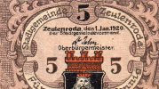 Notgeld Von Zeulenroda 5 Pfennig 1920 - Deutschland