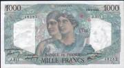 1000 FRANCS MINERVE ET HERCULE, 12-9-1946, SERIE J317, QUATRE NUMEROS CONCECUTIFS, FOUR FOLLOWING NUMBERS - 1871-1952 Anciens Francs Circulés Au XXème