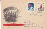 Pologne - Lettre Illustrée De 1957- Oblitération Warsawa - Drapeaux - Révolution - - 1944-.... République