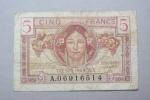 5f Trésor Français  Territoire Occupé - Treasury