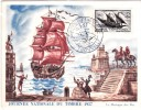 CM Journée Du Timbre 1957 - Cartes-Maximum
