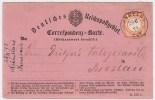 DR, 1/2 Gr. Auf Lila Rückantwort  , #3619 - Deutschland