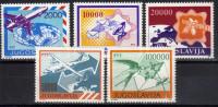 Yugoslavia,Postal Services-airmail 1988/1989.,MNH - 1945-1992 Socialist Federal Republic Of Yugoslavia
