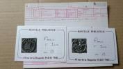 F0140 LOT 25 - 2 CACHETS A DATE MÉTALLIQUES PARIS DÉPART 2€ SANS RÉSERVE - Timbres