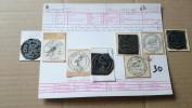 F0145 LOT 30 - 4 CACHETS A DATE MÉTALLIQUES THEME OISEAUX DÉPART 4€ SANS RÉSERVE - Timbres