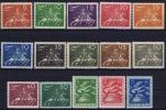 SCHWEDEN Mi.Nr. 159-173 50 Jahre Weltpostverein UPU, MH/*, Mit Falz, Avec  Charnière