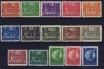 SCHWEDEN Mi.Nr. 144 - 158 , MH/*, Mit Falz, Avec  Charnière  1924 Weltpostkongress