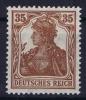 Dt Reich Mi Nr  103b  MNH/**/postfrisch Farbgeprüft Rotlichbraun