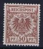 Dt Reich Mi Nr  50da MH/*, Mit Falz, Avec  Charnière