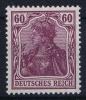 Dt Reich Mi Nr  92Ib Violettpurper MH/*, Mit Falz, Avec  Charnière