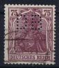 Dt Reich Mi Nr 148I Perfin DB Gestempelt/used Obl.