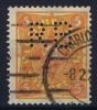 Dt Reich Mi Nr 205W I Stark Verschobene Unterdruck    Perfin RB  Gestempelt/used Obl.