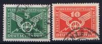 Dt Reich Mi Nr  370 - 371  Gestempelt/used Obl.