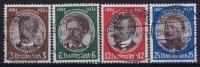 Dt Reich Mi Nr 540 - 543 Gestempelt/used Obl.