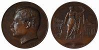 M05038 ANSPACH BOURGMESTRE DE BRUXELLES - 1872 - Son Buste - (142g)  Arches De La Senne - Au Revers- CHARLES  WIENER - Professionals / Firms