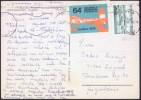 Esperanto Cinderella Advertising Stamp On Postcard Finland, Lentuankoski, Kuhmo Travelled 1979 Bb151007 - Esperanto